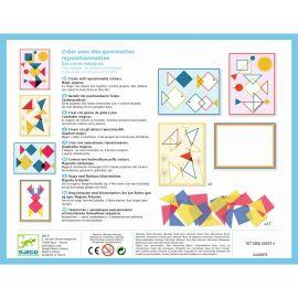 Magische vierkantjes - creëren met herbruikbare puffy stickers