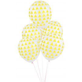 5 ballonnen - yellow triangles
