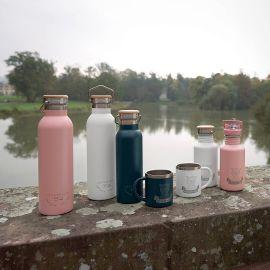 RVS drinkfles - Adventure grijs (700 ml)