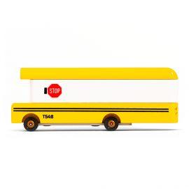 Houten speelgoedauto - School Bus
