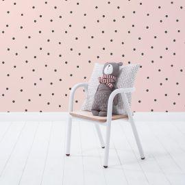 Behangpapier - Minima - Playful dots - Pearl