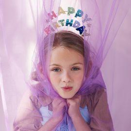 Haarband - Happy Birthday Glitter