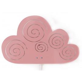 chouette lampe murale Cloud rose