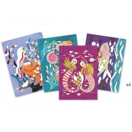 Glitterschilderij workshop - Het licht van de zeemeerminnen