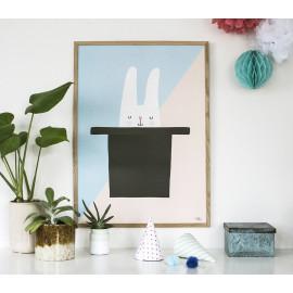poster 'Bunny hat trick' 30x40cm