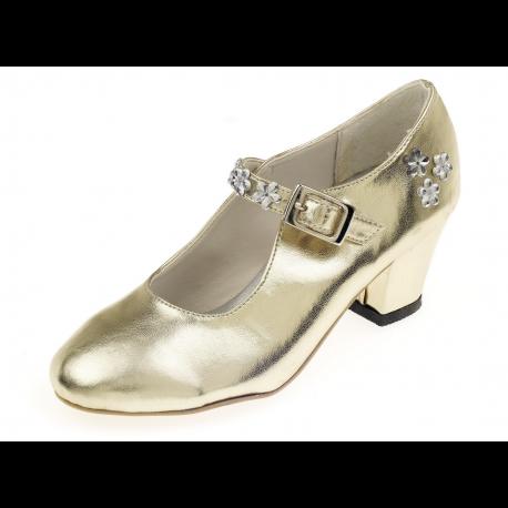 glimmend paar gouden schoentjes